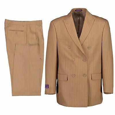 Pinstripe Double 6 Button Suit