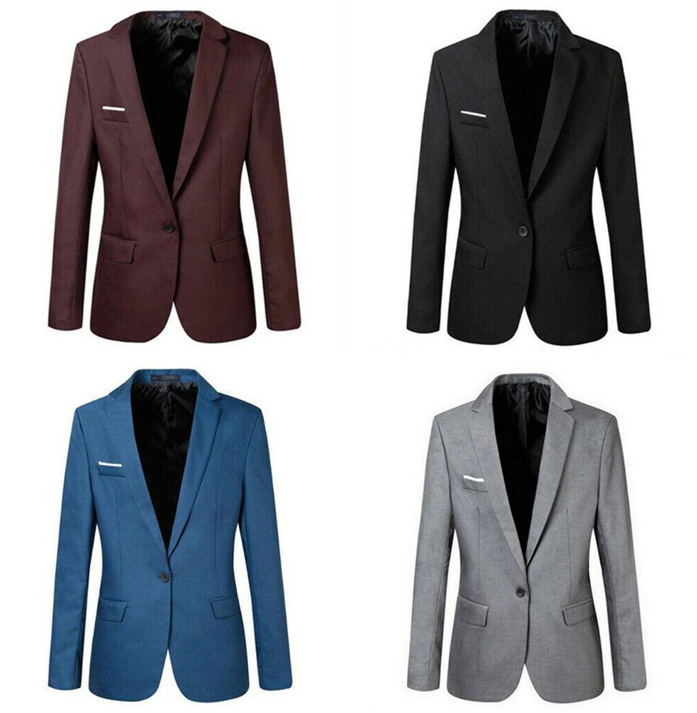 Men's Casual Fit Formal Button Suit Blazer Tops