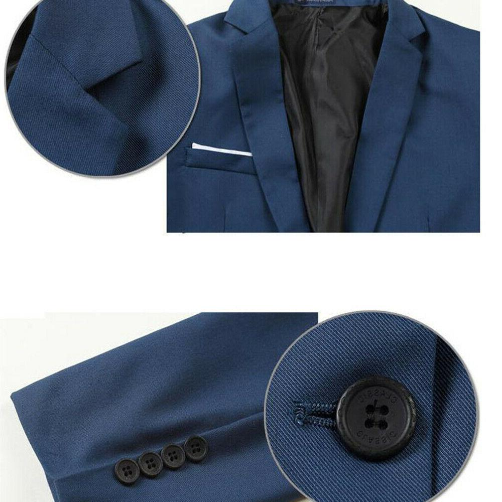 Men's Casual Formal One Button Blazer Tops