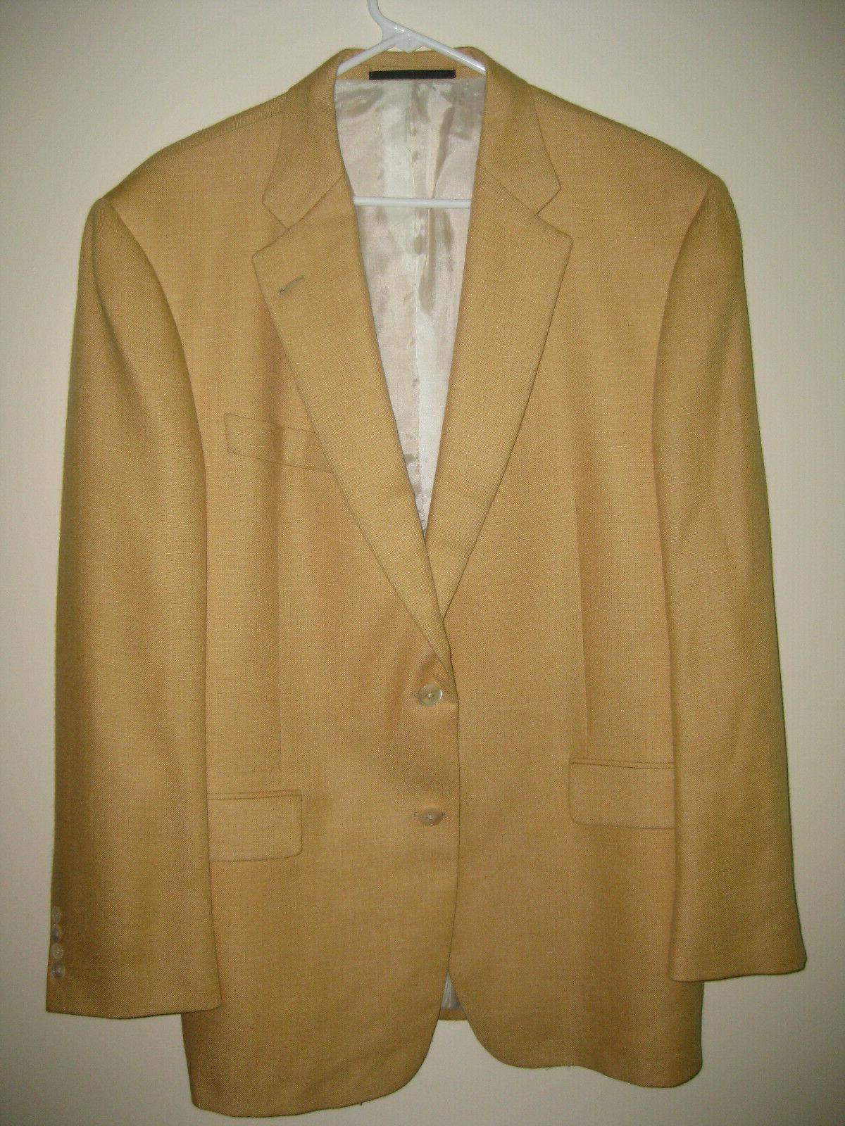 men s gold camel hair linen suit