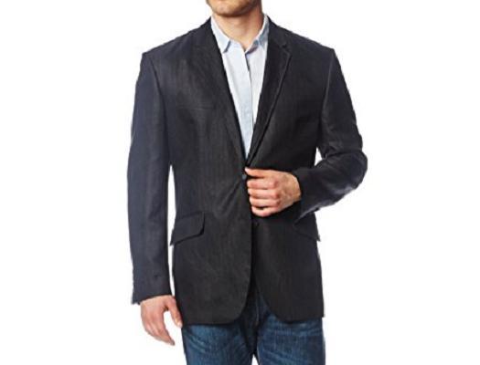 men s herringbone suit jacket black large