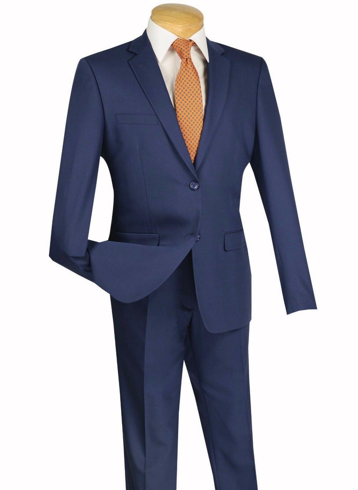 Vinci Men's 2 Extreme Slim Fit Suit