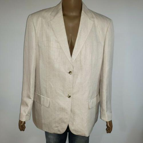 Cubavera Island Coat Tropical Jacket Linen XXL