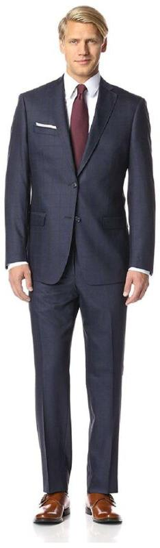 Franklin Tailored Men'S Large Windowpane Tracy Suit