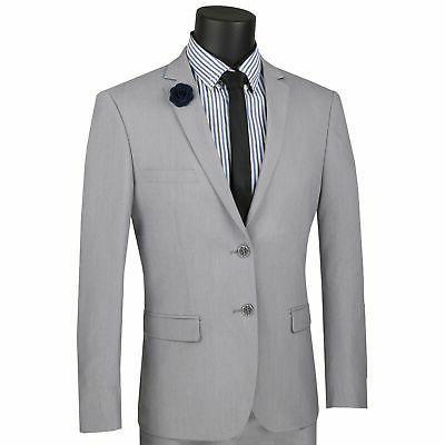 men s light gray stretch wool feel