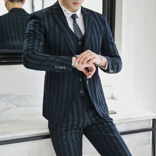Men's Double Brested Suit Wedding Groom Formal New