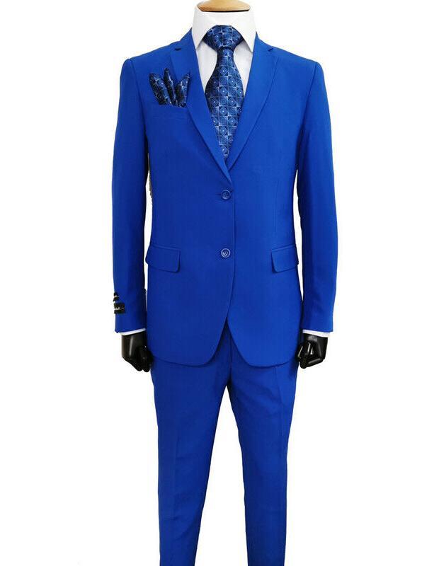 Men's Fit Formal Business Wedding 2 Button 2pc Set