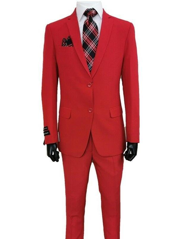 Men's Business 2 Button Jacket Pants 2pc
