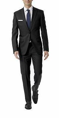 men s stretch slim fit suit black