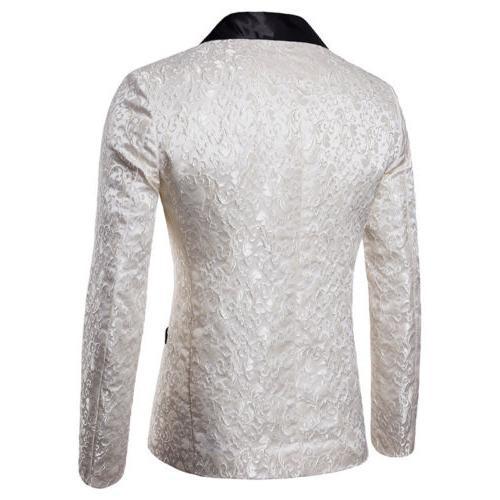 Men's Suit Coat Slim Formal One Blazer Jacket Fashion Casual