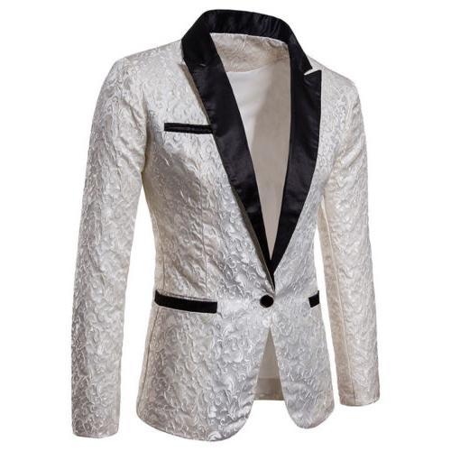 Men's Suit Casual Slim Formal One Button Blazer Jacket Tops Casual