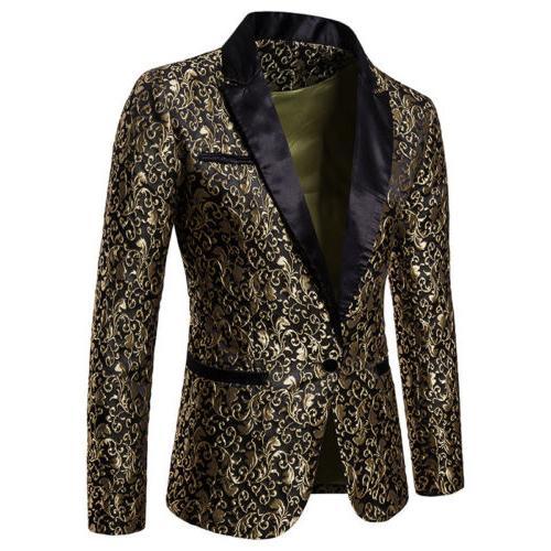 Men's Suit Slim Blazer Jacket Tops Fashion Casual