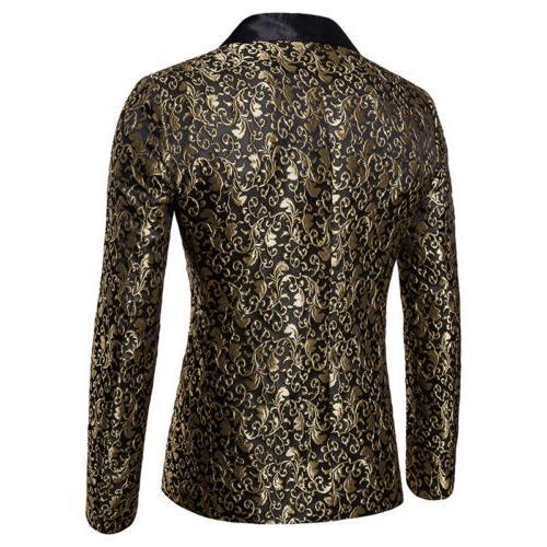 Men's Suit Coat Slim Formal One Blazer Tops Casual