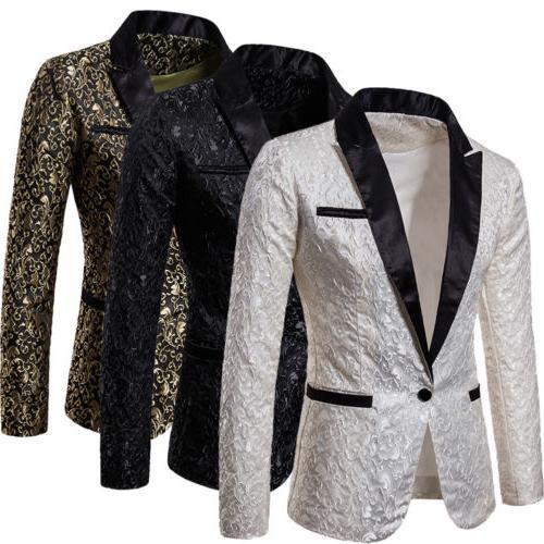 Men's Slim Formal Button Blazer Tops Casual