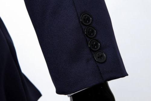Men's Coat Business Formal Fit Button Jacket