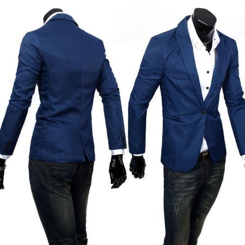 Men's Business Formal Blazer Slim Fit One Jacket
