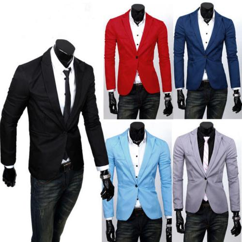 Men's Business Formal Slim Fit One Button Casual Jacket