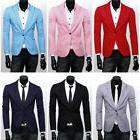 Men's Suit Coat Tops Business Formal Blazer Slim Fit One But