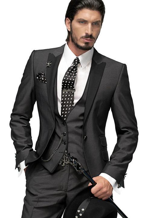 Men's Suits Jacket Pants Tuxedos Formal Groom Size S L XL Ma