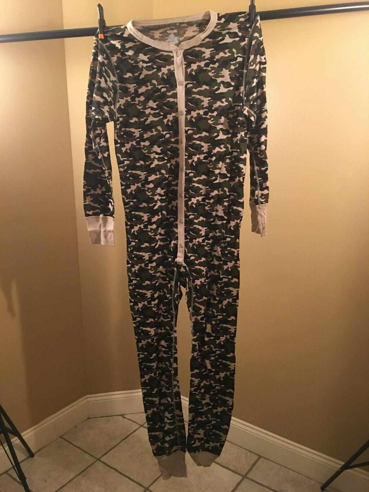 men s thermal camo union suit small