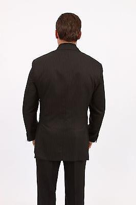Men's Three Piece 2 Button Pinstripe Suit Formal Modern Suits