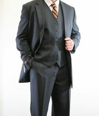 men s three piece vested 2 button