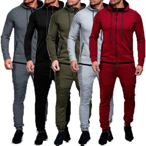 Men's Tracksuit Hoodie Coat Jacket Pants Sports