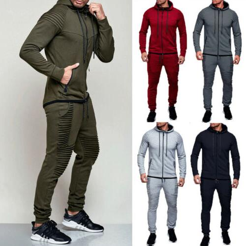 Men's Coat Jacket +Trousers Sports Sweat Set