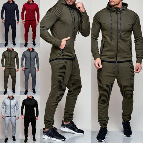 men s tracksuit jogging hoodie coat jacket