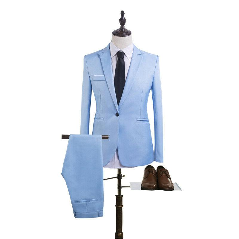 Men's Tuxedos Jackets + Pants Slim Formal Wedding Suit