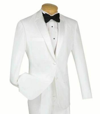 men s white slim fit formal tuxedo