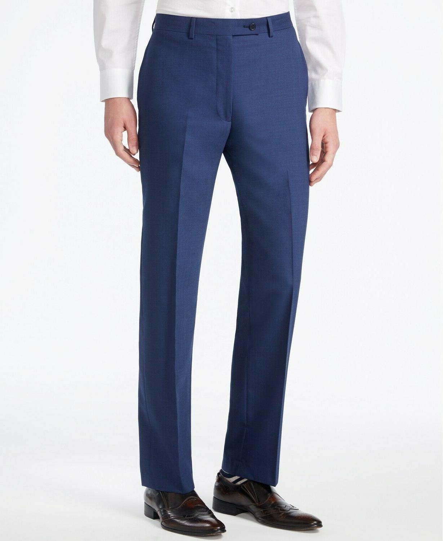 Calvin Klein Wool Blend Stretch Notch Extreme Blue