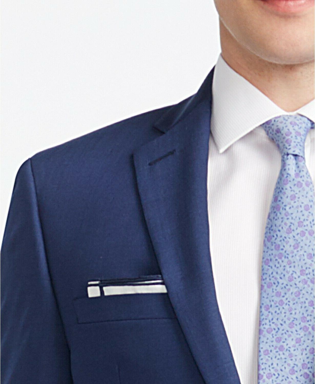 Calvin Klein Wool Blend Stretch Lapel Extreme Slim Fit Blue