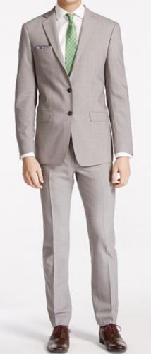 Calvin Klein Men's Light X Slim Fit Suit 40 L $640
