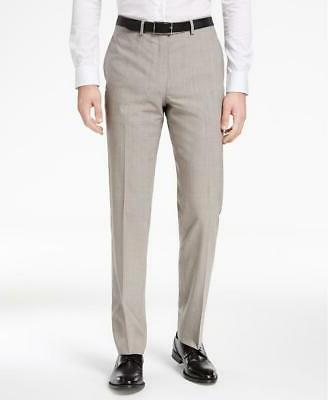 Calvin Klein Men's Fit Light Solid Slim 2 PC Suit 40S 34 30