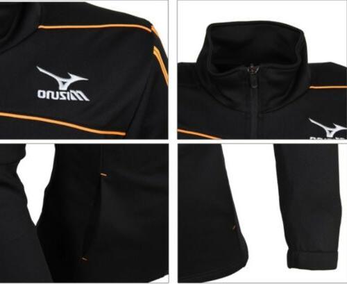 Mizuno Men Slim Fit Knit Training Black Orange Soccer P2MC601209