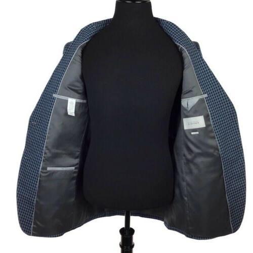 Perry Men Fit Plaid Suit Jacket Blazer 40L NEW