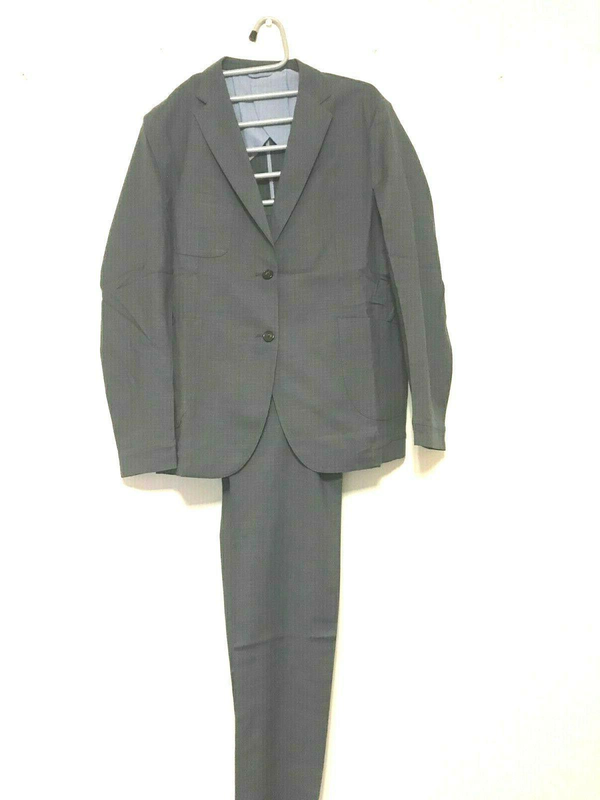 men sport suit pants and coat charcoal