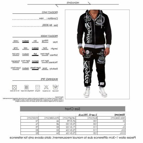 Men' Fitness Workout Hoodies Printing Trousers