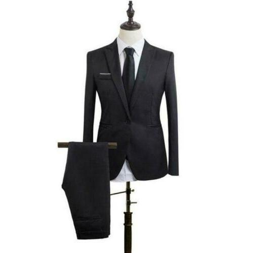 Mens Formal Party Slim Pants Blazer