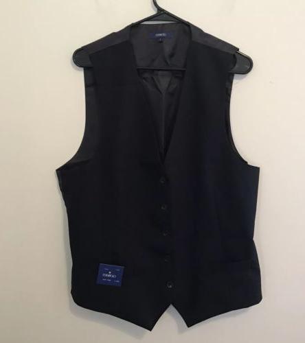 Gioberti Men's 5 Button Formal Suit Vest Navy Adjustable B