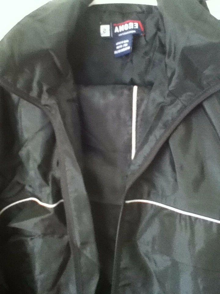 Mens Black Suit Zip 2 Pockets Size