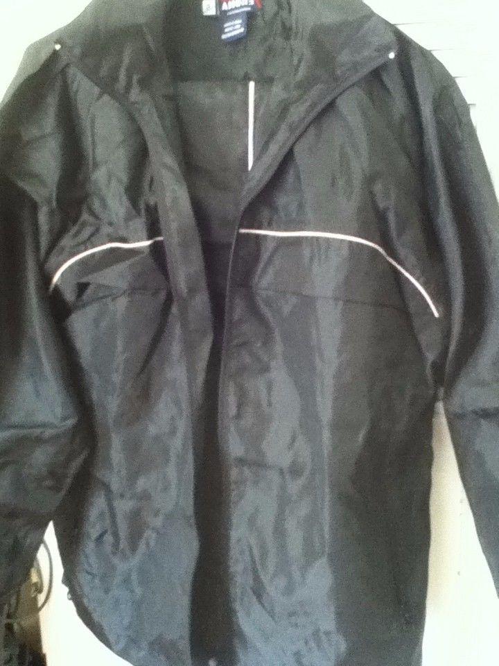 mens black track suit pants and jacket