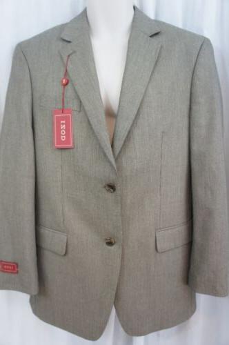 Izod Mens Blazer Sz 38R Regular Tan Multi Color Two Button B