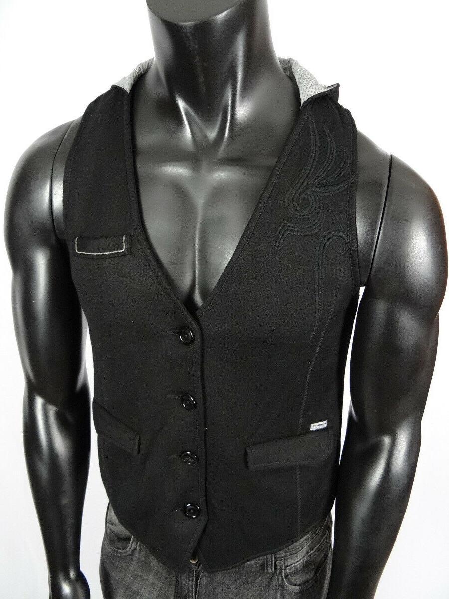 Mens Roar Brand Vest Embroidery Medium