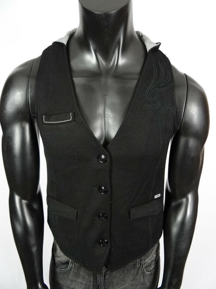 Mens Vest Black Medium
