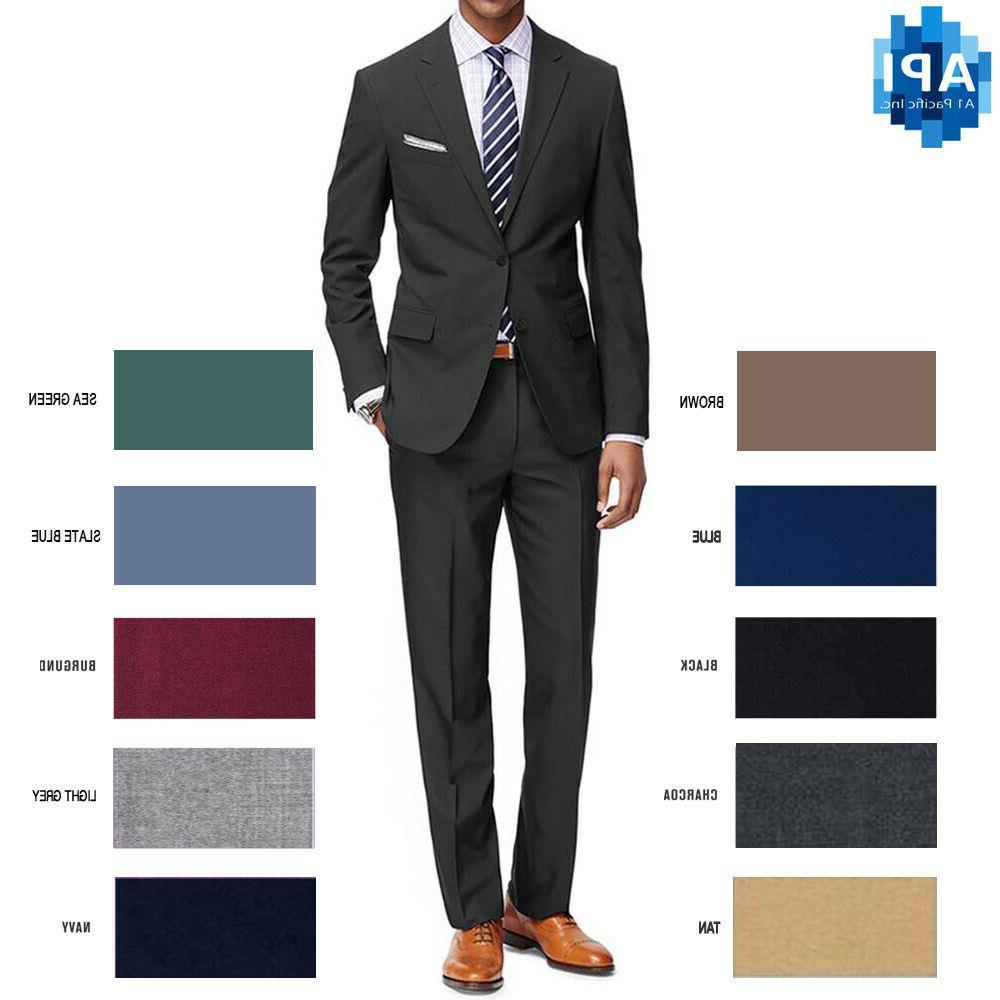mens formal classic fit 2 piece suit