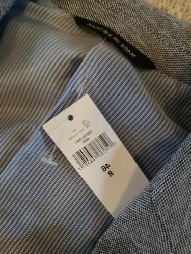 Banana Republic Mens Jacket Coat Blazer 46R new w/tags