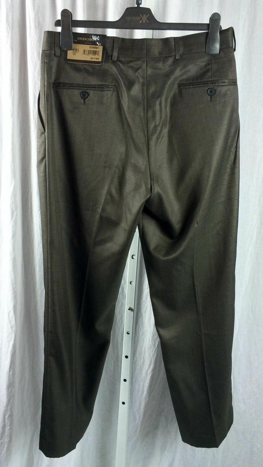 Mens Dockers Pants Size 44x30 Brown Blend NWT