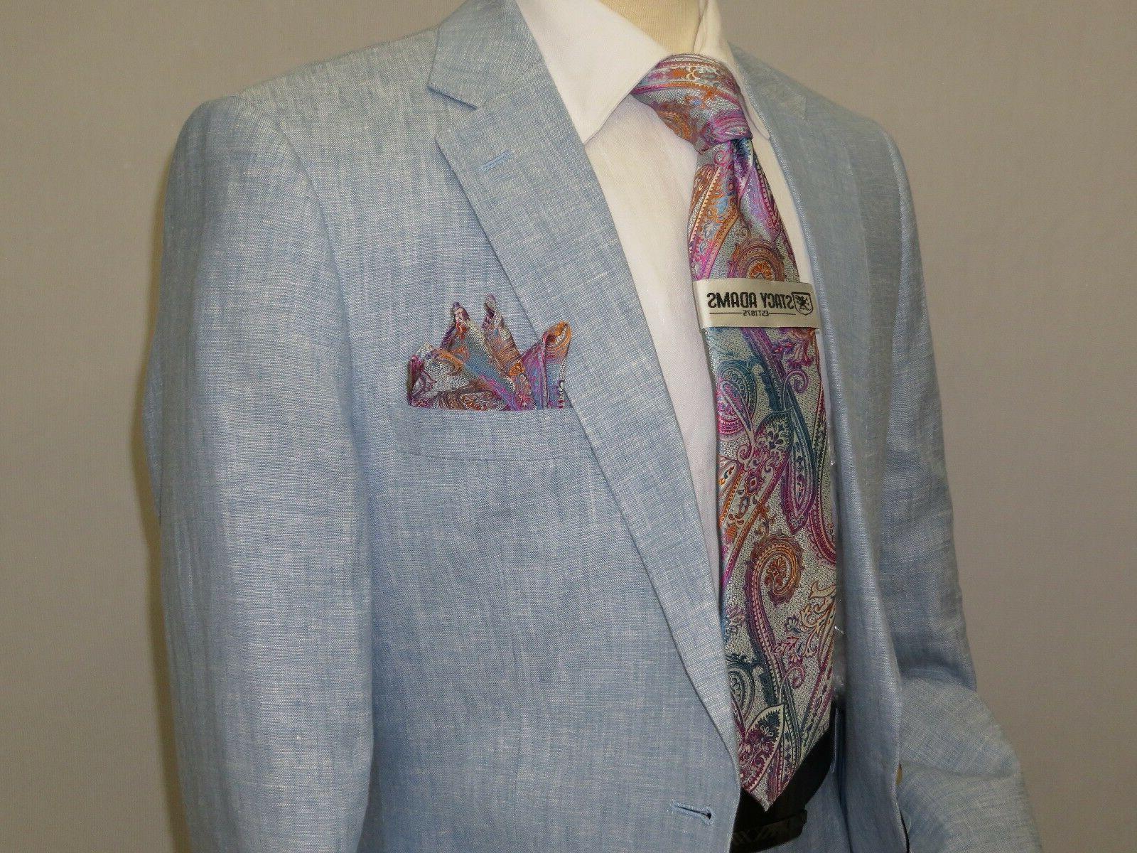 Mens Summer Linen Suit Apollo King Half Lined 2 Button Europ